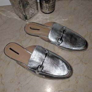 Merona Silver Slip On Shoes Size 8